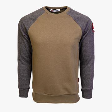 Picture of Arsenal Grey / Khaki Cotton-Poly Standard Fit Icon Pullover Sweater