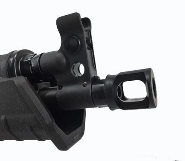 Picture of Century Arms 922r Compliant M109 Muzzle Brake with 14x1 Left Hand Threads for 7.62x39mm and 9mm Guns