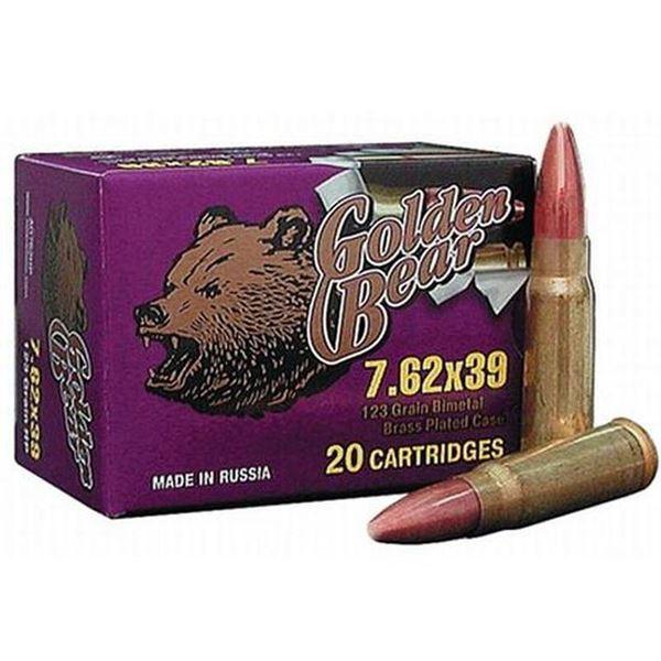Picture of Golden Bear 7.62x39 Ammunition 123 Grain FMJ 500 Rounds