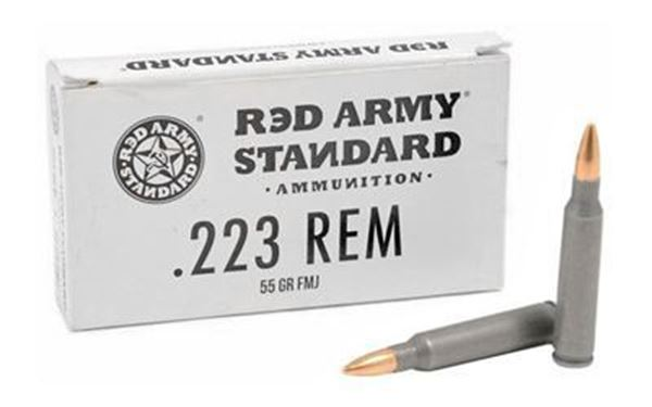 Picture of Red Army Standard 223 Rem 55 Grain Full Metal Jack Case of 1000 Rounds