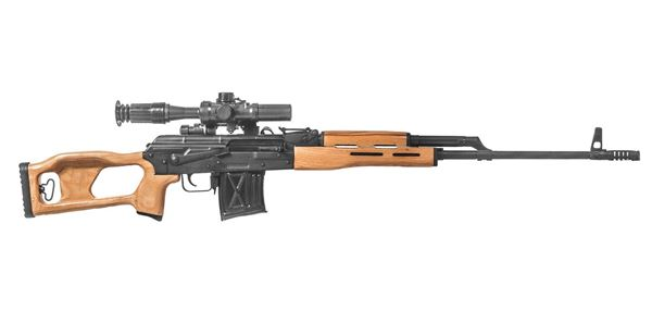 Picture of CUGIR PSL 54 7.62x54R Semi-Automatic Marksman Rifle with PO 4x24 Optic