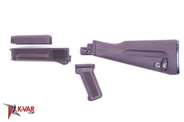 Picture of Arsenal 4-Piece Mil-Spec Warsaw Length Plum Polymer Buttstock Set for Stamped Receivers