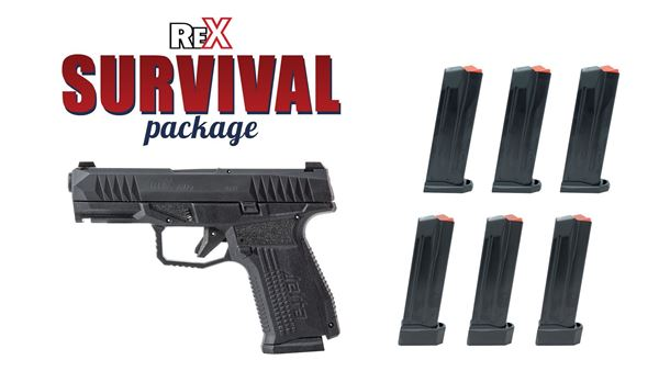 Picture of Arex Rex Survival Package 9mm Pistol 6 Magazines