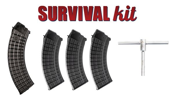 Picture of Arsenal AK47 Elevation Wrench Survival Kit With 40 and 30 Round Magazines
