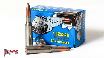 Picture of Bear Ammo 7.62x54R 203 Grain Bimetal Zinc Plated Soft Point 500 Round Case