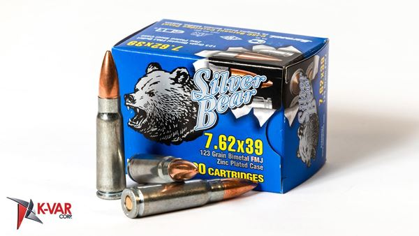 Picture of Bear Ammo 7.62x39mm 123 Grain Full Metal Jacket 20 Round Box