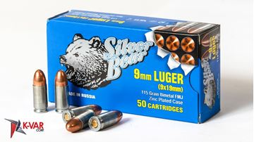Picture of Bear Ammo 9mm 115 Grain Full Metal Jacket 50 Round Box