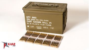 Picture of ADI 5.56x45mm NATO 62 Grain FMJ 900 Round Case