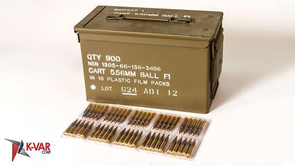 Picture of ADI 5.56x45mm NATO 62 Grain FMJ 900 Round Case