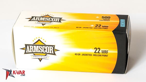 Picture of Armscor 22 Mag 40 Grain Jacketed Hollow Point Rimfire 5000 Round Case
