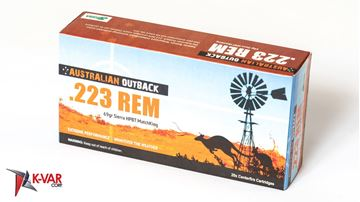 Picture of Australian Outback 223 Rem 69 Grain Sierra MatchKing Hollow Point Boat Tail 20 Round Box