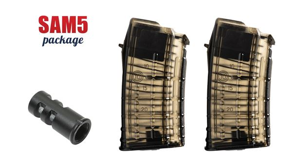 Picture of Arsenal SAM5 Package Muzzle Brake and 2 20rd 5.56x45 Magazines