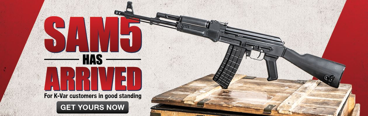 Arsenal SAM5 5.56x45mm Black Semi-Automatic 20 Round Rifle