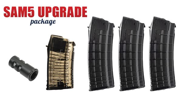 Picture of Arsenal SAM5 Muzzle Brake and 4 5.56x45mm Magazines Upgrade Package
