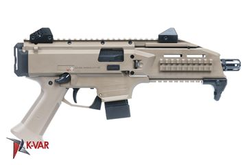 Picture of CZ Scorpion EVO 3 S1 9mm Flat Desert Earth Semi-Automatic 10 Round Pistol