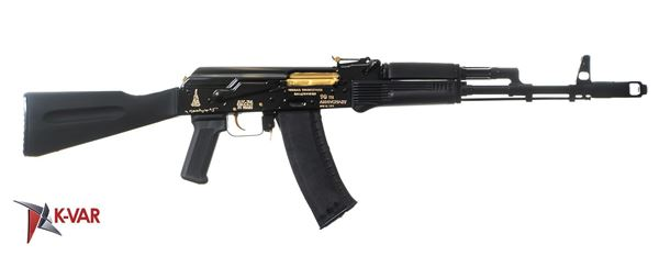 Picture of IZHMASH Jubilee Series Gold Edition 5.45x39mm Semi-Automatic 30 Round AK74 Rifle