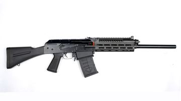 Picture of JTS AK-Style 12 Gauge Black Semi-Automatic 5 Round Shotgun with Picatinny Rail