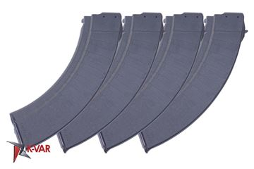Picture of Polymaggs Pack of 4 7.62x39mm Black Polymer 40 Round Magazines