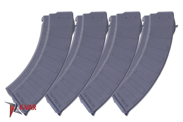 Picture of Polymaggs Pack of 4 7.62x39mm Black Polymer 30 Round Magazines