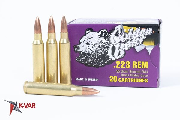 Picture of Bear Ammo 223 Remington / 5.56x45mm 55 Grain Full Metal Jacket 500 Round Case