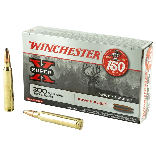 Picture of Winchester Super-X 300 Win Magnum 180 Grain Power Point  20 Round Box