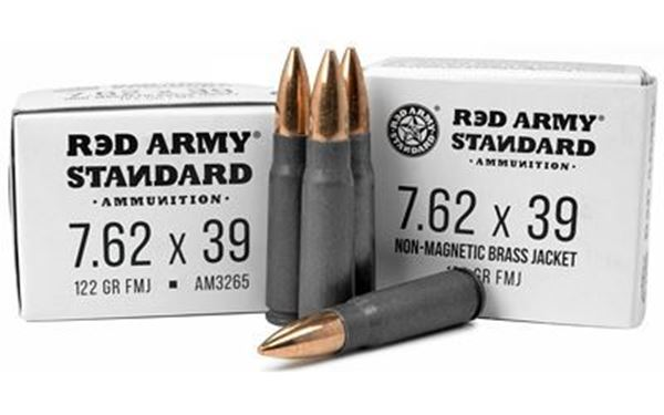 Picture of Red Army Standard 7.62x39mm 122 Grain FMJ Ammunition 1000 Rounds