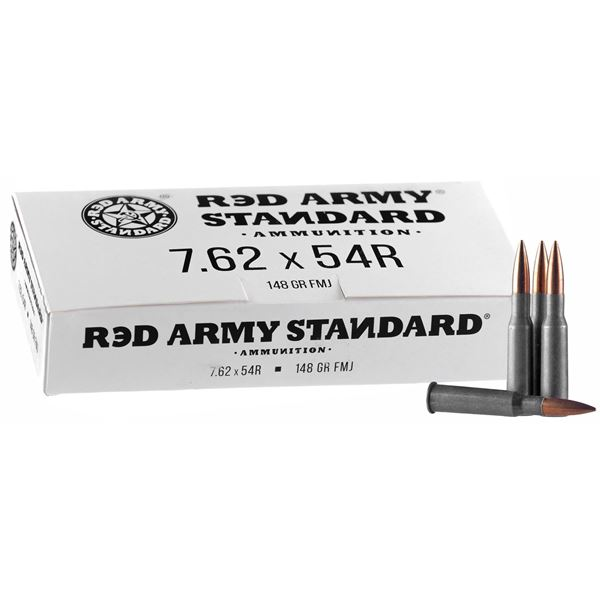 Picture of Red Army Standard 7.62x54R 148 Grain FMJ Ammunition 500 Rounds