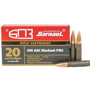 Picture of Barnaul 300 Blackout 145Gr Full Metal Jacket 500 Round Case Ammunition