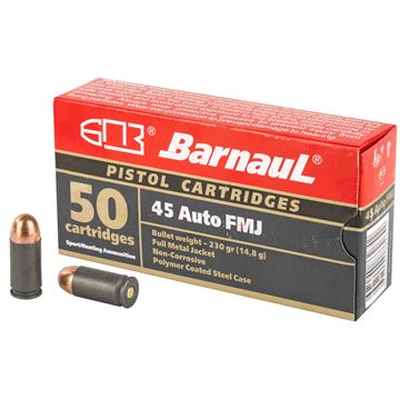 Picture of Barnaul 45 ACP 230Gr FMJ Steel Polycoated 500 Rounds Ammunition
