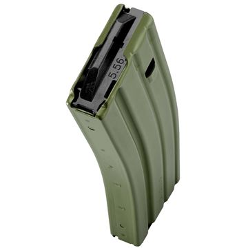 Picture of DURAMAG Speed™ 223 Rem 300 Blk 30 Round AR-15 Style OD Green Aluminum Magazine Black AGF