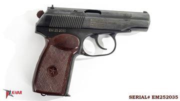 Picture of Arsenal EM252035 9x18mm Makarov 8 Round Bulgarian Pistol 1985