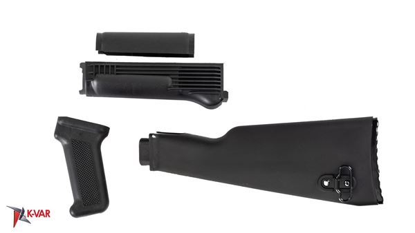 Picture of Arsenal Black Polymer Stock Set with Stainless Steel Heat Shield for Milled Receivers