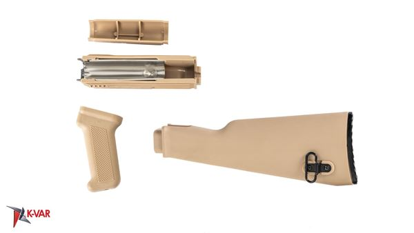 Picture of Arsenal U.S. Made Desert Sand Polymer Stock Set for Milled Receiver AK47