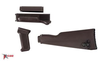 Picture of Arsenal U.S. Made Plum Polymer Stock Set for Milled Receiver AK47