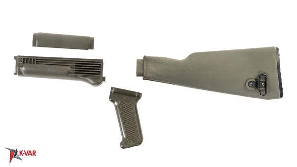 Picture of Arsenal U.S. Made OD Green Polymer Stock Set for Milled Receiver AK47
