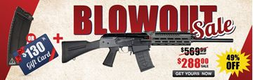 Picture of JTS M12AK-T1 w/ MLOK Rail for $288 with Purchase of $130 Gift Card or Izhmash Magazine