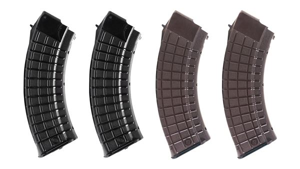 Picture of Circle 10 AK47 7.62x39 Magazine Pack Plum and Black 30rd Magazines 4 Total